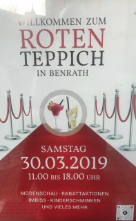 Roter Teppich in Benrath